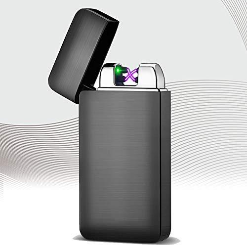 CMSJ Feuerzeug USB Wiederaufladbarer Lichtbogen Feuerzeug Touch Induktion Winddichtes Flammenloses Plasma Feuerzeug Mit Batterieanzeige Und Geschenkbox,D