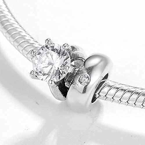 Zilveren Kralen Bedels,Ronde Vorm 925 Sterling Zilveren Ring Kralen Charm Bedelarmband Sieraden Cadeau