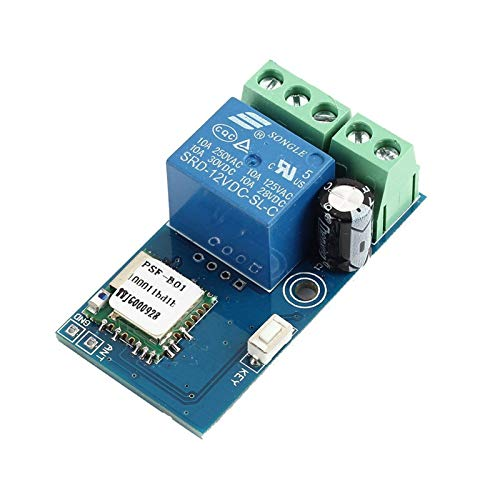 WHDTS WiFi Switch Relay Momentary Inching & Self-Locking Relay Delay Switch Module Smart Home Remote Control DC 12V Compatible with iOS Andriod 2G/3G/4G Network, Read Manual Before Use