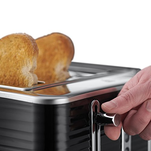Russell Hobbs 24381 Inspire High Gloss Plastic Four Slice Toaster, Black