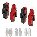 P4B   2 Paar Hydraulik Power Pads für Magura in Rot - 50 mm   Geräuscharme Bremsbeläge für Magura Felgenbremse