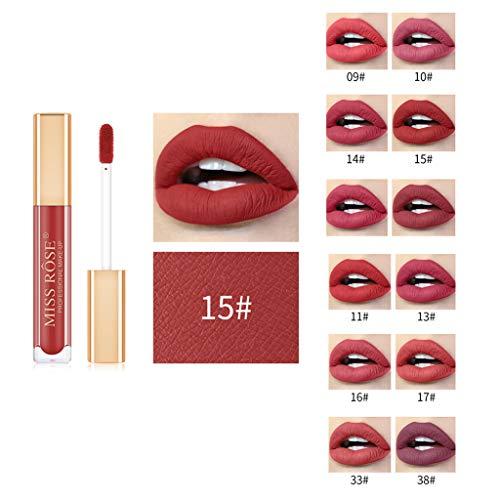 ODRD Lipgloss Set, 12 Stück Lipgloss Matte Lippenstift Kosmetik Make up, Liquid Lipstick wasserdichte und langlebige Matte Flüssigkeit Lipgloss, Perfektes Geschenk für Frauen