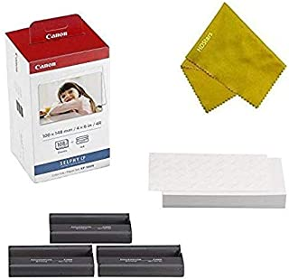 $35 » Canon KP-108IN 3 Color Ink Cassette and 108 Sheets 4 x 6 Paper Glossy for SELPHY CP1300, CP1200, CP910, CP900, CP760, CP770, CP780 CP800. Bonus: Quality Photo Microfiber Cloth
