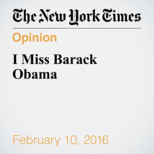 I Miss Barack Obama audiobook cover art