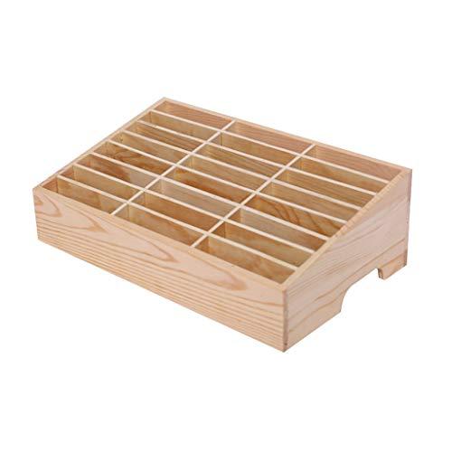 JOYKK 24 cellen multifunctionele houten opbergdoos mobiele telefoon reparatie tool organizer - hout