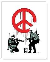 ポスター バンクシー Peace Soldiers