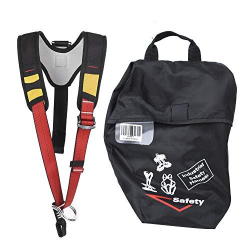 Andraw Cinturón de Seguridad de poliéster para Escalada al Aire Libre de Larga duración, cinturón de Seguridad Resistente para la Parte Superior del Cuerpo, para Trabajos aéreos de Rescate