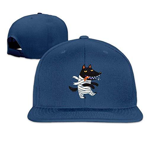 Wolf Halloween Costume Washed Unisex Flat Bill Visor Baseball Hat