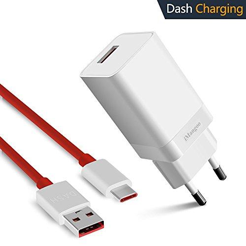 iMangoo OnePlus Dash Ladegerät, OnePlus Dash Ladegerät 5V 4A & Dash Ladekabel 3.3FT USB Typ C Schnellladekabel für OnePlus 6T 6 5T 5 3 3T Oppo Find X Weiß