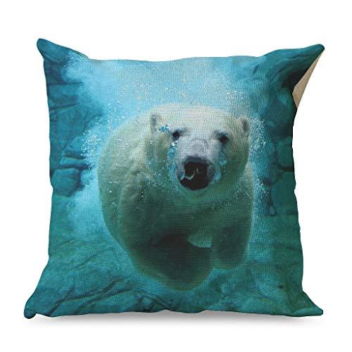 Generic Branded Funda de almohada cuadrada para sofá, Navidad, decoración del hogar, color blanco, 45 x 45 cm