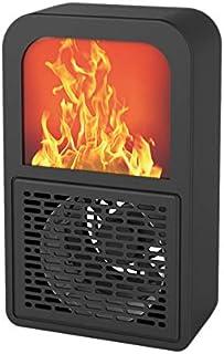 Nrpfell Calentador de Llama EléCtrico Calentador de Aire Estufa de CalefaccióN Radiador Hogar Pared Ventilador PráCtico Enchufe de la EU