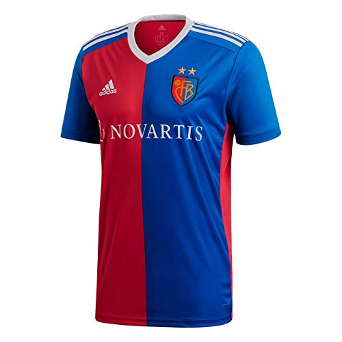 adidas Herren Basel Home Kurzarm Trikot, Bold Red/Bold Blue, L
