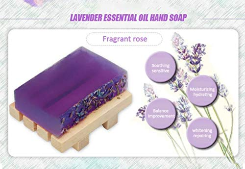 2 PCS Yoni soap | 100% Handmade Natural Organic Yoni Bar | Bar Soap for Women | Wash Away Odor & Germs- Soap Holder Not Included (Lavender)