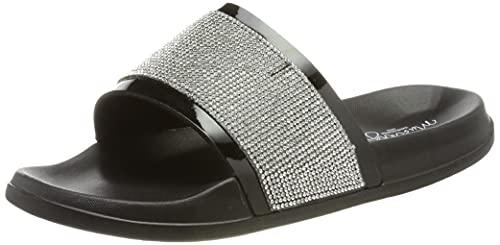 Mustang Damen 1396-701 Sandale, schwarz, 39 EU