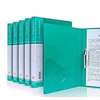5パッククリップボード - A4 / Foldover Flap、Portfolio Organizer A4クリップボード (Color : Green)