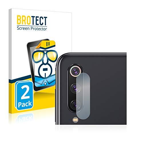 BROTECT Protector Pantalla Compatible con Xiaomi Mi 9 SE (Cámara) Protector Transparente (2 Unidades) Anti-Huellas