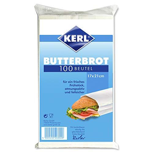 KERL Butterbrot-Beutel pergament, 17 x 21 cm, 100 Stück