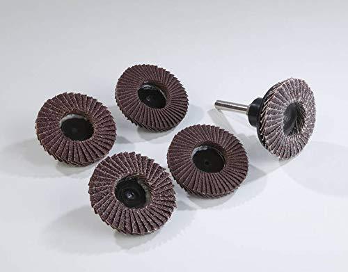 WestfaliaFächerschleifscheiben Set 5-teilig für Bohrmaschinen