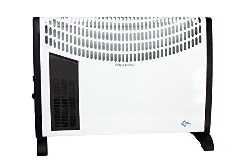 SUNTEC Heizkonvektor Heat Flow 2020 - Stand-Heizung, 2000 Watt | Konvektor 3 Heizstufen, Elektroheizung | Heizkörper für Räume bis ~25 m² | Heizer Perfekt für Garage, Büro, Wohnzimmer
