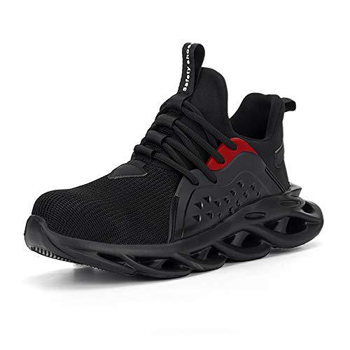 [ziitop] 安全靴 作業靴 メンズ スニーカー ハイカット 鋼先芯入れ セーフティーシューズ 軽量 通気性 耐滑 耐摩耗 衝撃吸収 クッション性 おしゃれ