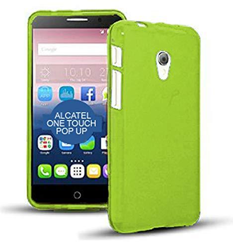 TBOC® Funda de Gel TPU Verde para Alcatel One Touch Pop Up de Silicona Ultrafina y Flexible