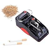 EnweOil Maquina Llenado Cigarrillos Electrica, Machine Llenado Tabaco con Ajuste Perilla, Compatible con Todo Tipo De Tabaco, Hombres,Rojo