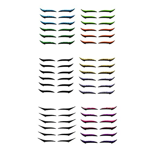 BIUDUI 20/36 Pairs Autocollant Eyeliner Réutilisable, Reusable Eyelid Makeup Stickers,Double Eyelid Tape Invisible Self-Adhesive Eye Line Strip Sticker Eye Makeup Tool