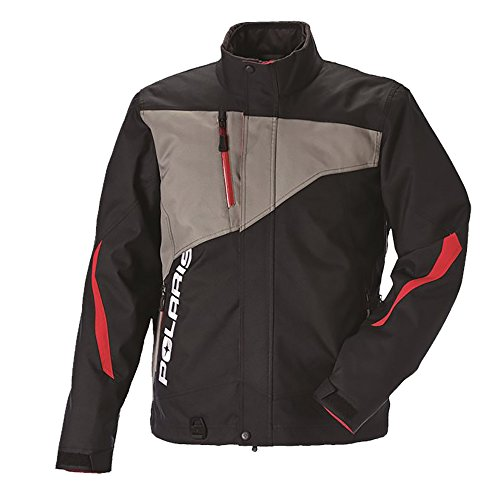 Polaris OEM 3-In-1 Design Throttle Snowmobile Jacket 3M Thinsulate Insulation - Black/Gray - Small