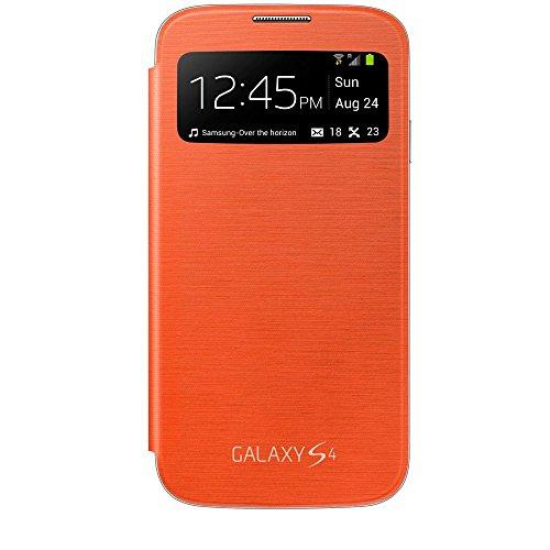 Samsung EF-CI950BOEGIN S View Cover, Copertura per Samsung Galaxy S4, arancione (Yellow)