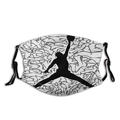 Mundschutz Basketball Klassische Haltung schwarz weiß Unisex waschbar und wiederverwendbar Gesicht Schal für den Außenbereich