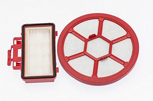 Dirt Devil - Set di filtri da 185 x 170 x 50 mm, Colore: Rosso/Bianco