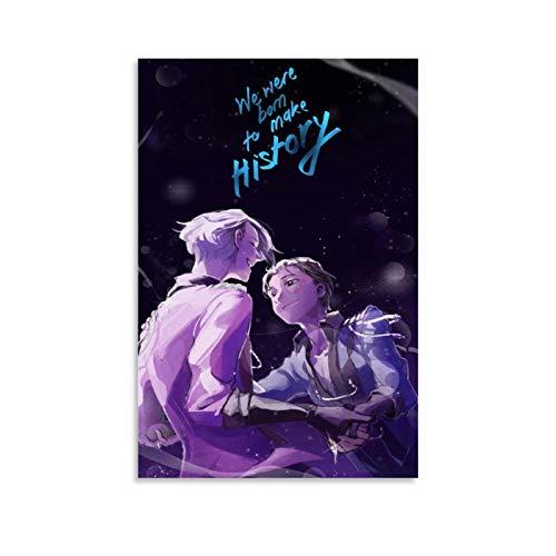 Weqwe Anime Yuri on Ice 6 Poster decorativo su tela da parete per soggiorno, camera da letto, 60 x 90 cm