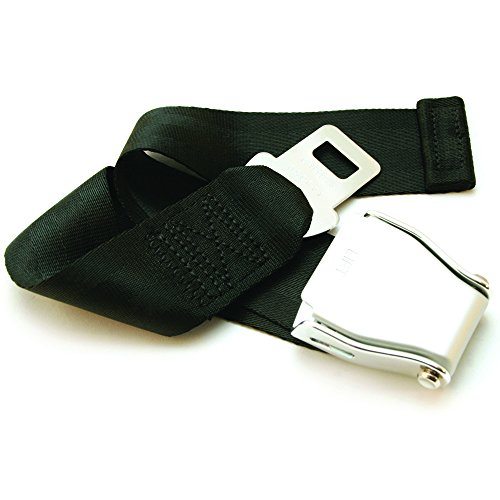 "Adjustable 7-24"" Airplane Seatbelt Extender - FITS All Airlines (not Southwest) - Free Carrying Case - E4 Safety Certified (Not All Extenders are Certified, Choose The Safe Option)"