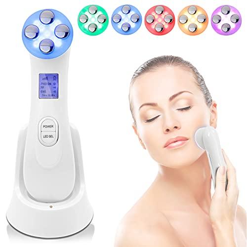 Ultrasuoni Terapia LED Radiofrequenza Viso Massaggiatore Viso Antirughe Anti-età per la Pelle Dell'acne per il Ringiovanimento Della Pelle Cura del Viso Quotidiana Lifting Facciale Lifting Facciale