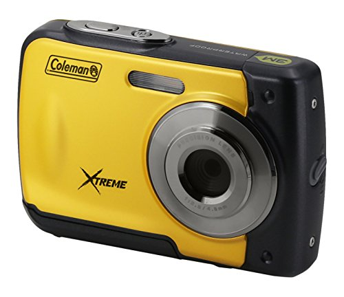 "Coleman Xtreme 18.0 MP HD Underwater Digital & Video Camera (Waterproof to 10 ft.), 2.5"", Yellow (C20WP-Y)"