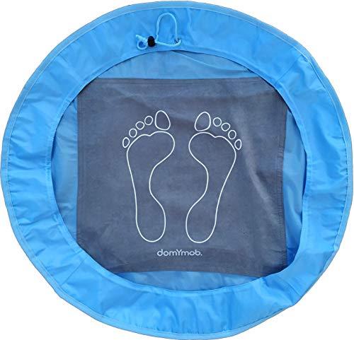 Alfombrilla antideslizante de vestuario para natación, gimnasio, fitness, spa, ducha, bolsa plegable para ropa de hombre, mujer, niño, microfibra de nailon 190T