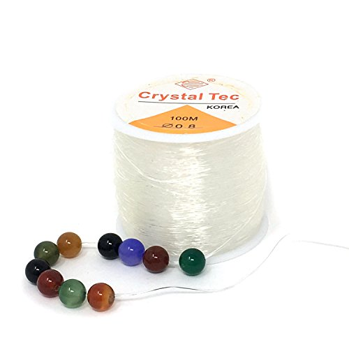 Honbay 0.8mm 100m Jewelry Making String Clear Elastic Beading Threads Elastic Stretch String for Jewelry Making, Bracelet, Beading,Crystal, Arts & Crafts