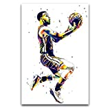 WPQL Poster mit Basketball-Punktwache, Steph Curry,