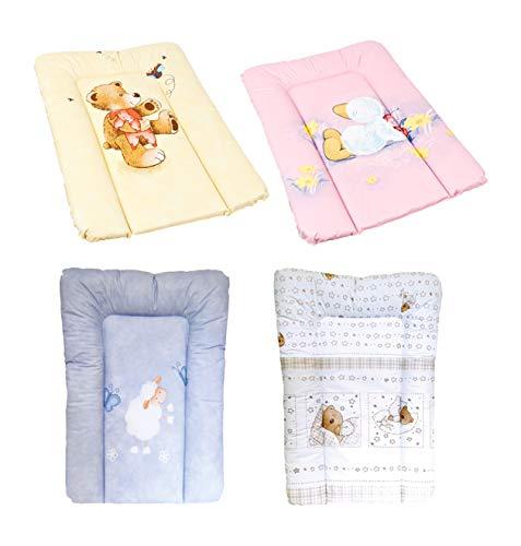 Wickelauflage Baby Wickelunterlage Wickeltischauflage abwaschbar 50 x 70 cm TÜV geprüft Ökotex Standard 100, Farbe:Bärchen weiß
