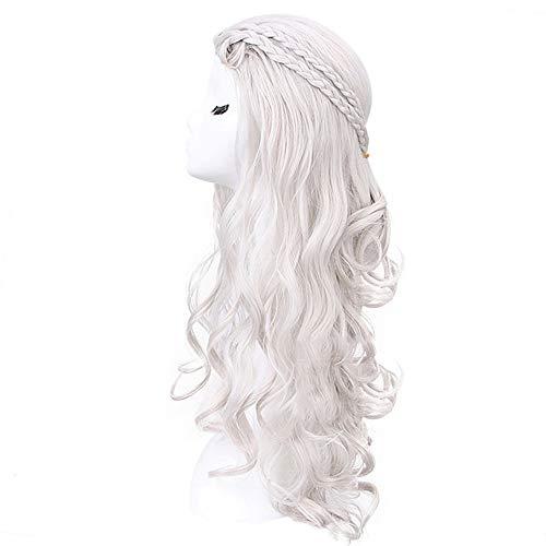 DRT Full Lace Pruik Blonde Pruik Licht Pony Natuurlijke Op zoek Lange Krullend Pruiken