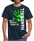 Handball Feel It Touch It Play It T-Shirt Homme, M, Marine