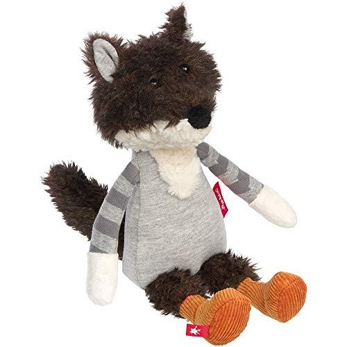 sigikid, Mädchen und Jungen, Stofftier Wolf Patchwork Sweety, empfohlen ab 0 Monaten, braun/grau, 39083