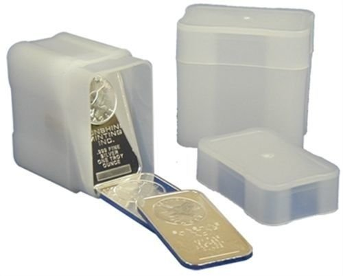 100 Coin Safe Square Coin Tubes for 20 1oz SILVER BARS by CoinSafe