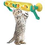 Macallen Juguete para Gatos con Diseño de Pista con 3 Bolas de Juguete Juguete Interactivo para Gatos (Amarillo)