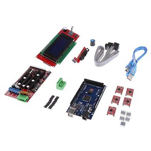 ZJN-JN 3D Printer Driver Set A4988 Sink Stepper Motor Driver RAMPS 1.4 2004 Controller Card LCD Display Module USB Cable printer accessories PC Accessories