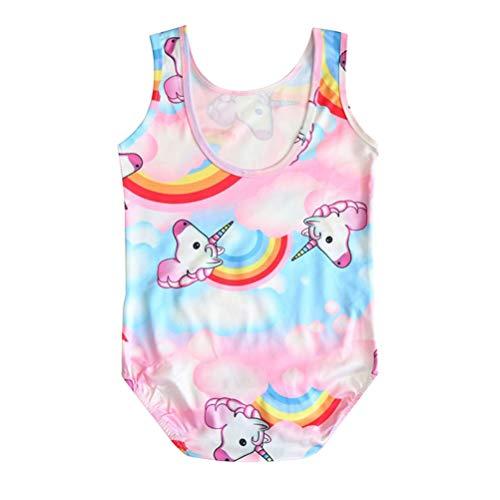TENDYCOCO Traje de baño Unicornio para niñas Bikini Unicornio para Nadar Traje de Playa (100 Yardas)