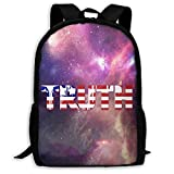 XCNGG Sac à dos d'impression plein cadre adulte Sac à dos décontracté Sac à dos Cartable USA Truth Large Capacity Travel Computer Backpack, Adult Printed Backpack, Portable Multifunctional Student Bac