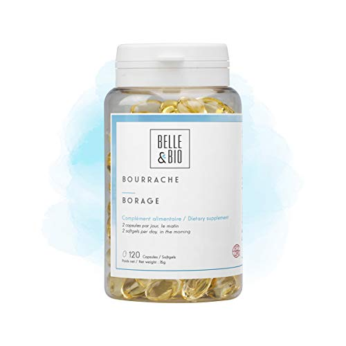 Belle&Bio Bourrache - 500 mg/capsule - Hydratation Visage - Fabriqué en France