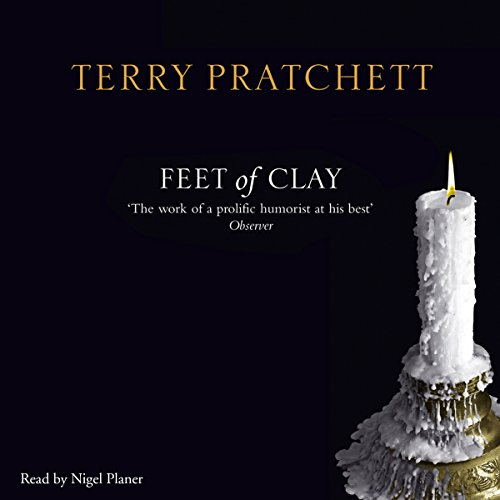 Feet of Clay                   By:                                                                                                                                 Terry Pratchett                               Narrated by:                                                                                                                                 Nigel Planer                      Length: 9 hrs and 32 mins     154 ratings     Overall 4.9