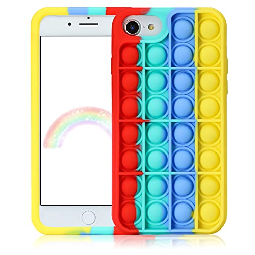 JoySolar Red Green for iPhone 6/6S/7/8/SE 2020 Case Silicone CaseDesign Character Funny Cute Unique Fidget Aesthetic Cover Cases for Boys Girls Youth((for iPhone 6/6S/7/8/SE 2020 4.7')